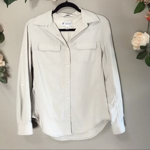 Coolibar | Tan button up shirt